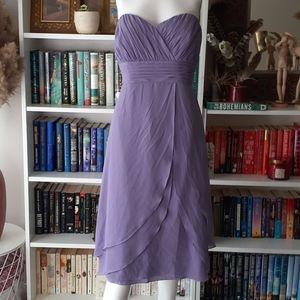 🔥3/30$  Jasmine B2 purple strapless dress